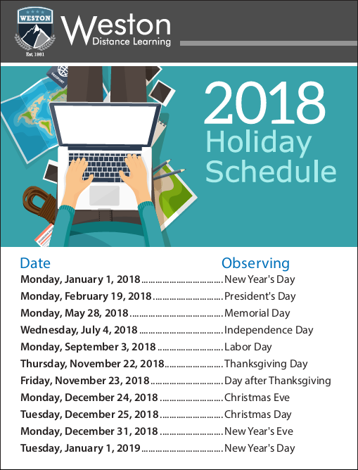 wdl-holiday-schedule